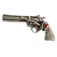 Pistol And Rose Pin