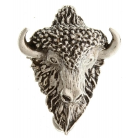 Buffalo With Horns Pin