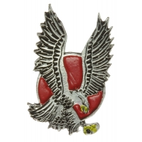 Eagle With Red Circle Pin
