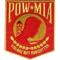 POW MIA Red And Yellow Patch | US POW MIA Military Veteran Patches