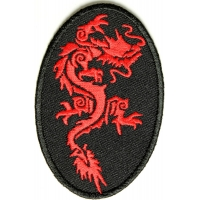 Tribal Dragon Patch | Embroidered Patches