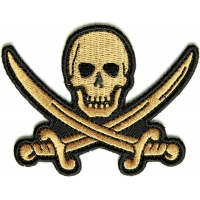 Pirate Sword Skull Patch | Embroidered Patches