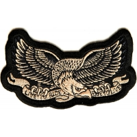 Live To Ride Eagle Small Biker Patch | Embroidered Biker Patches