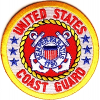 US Coast Guard Circle Patch | US Coast Guard Military Veteran Patches