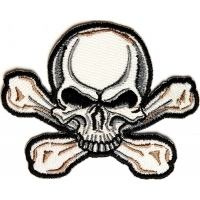 Skull Cross Bone Patch | Embroidered Patches