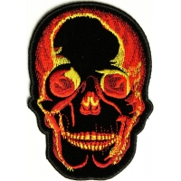 Flaming Skull Patch | Embroidered Patches
