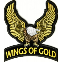 Wings Of Gold Eagle Patch Small | Embroidered Biker Patches