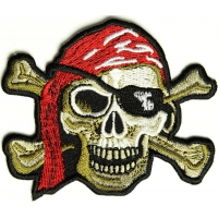 Pirate Skull Patch | Embroidered Patches