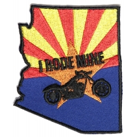 Arizona I Rode Mine Biker Patch | Embroidered Biker Patches