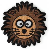 Brown Lion Head Patch