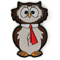 College Owl Cute Iron On Patch