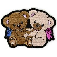 Cute Cuddling Teddy Bears Iron on Patch