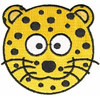 Cute Leopard Head Iron On Patch