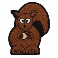 Cute Squirrel Iron on Patch