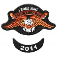 Daytona 2011 I Rode Mine Eagle 2 Piece Bike Week Patch
