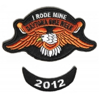 Daytona 2012 I Rode Mine Eagle 2 Piece Bike Week Patch