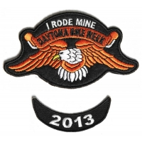 Daytona 2013 I Rode Mine Eagle 2 Piece Bike Week Patch