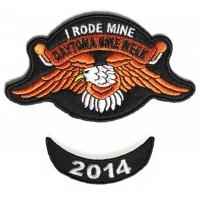 Daytona 2014 I Rode Mine Eagle 2 Piece Bike Week Patch