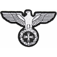 Eagle On Crest Iron On Patch