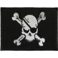 Eye Patch Skull Flag Iron On Patch
