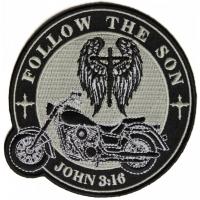 Follow The Son John 3 16 Biker Christian Patch