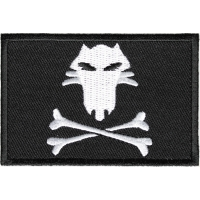 Fox And Cross Bones Flag Pirate Patch