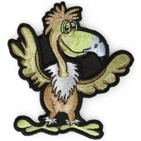 Funny Bird Iron On Patch
