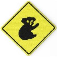 Koala Sign Iron On Patch