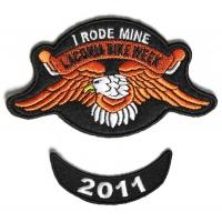 Laconia 2011 I Rode Mine Eagle 2 Piece Bike Week Patch