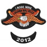 Laconia 2012 I Rode Mine Eagle 2 Piece Bike Week Patch