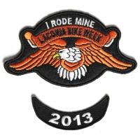 Laconia 2013 I Rode Mine Eagle 2 Piece Bike Week Patch