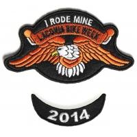 Laconia 2014 I Rode Mine Eagle 2 Piece Bike Week Patch