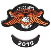 Laconia 2015 I Rode Mine Eagle 2 Piece Bike Week Patch