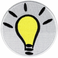 Light Bulb Idea Iron on Patch