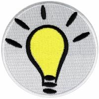 Light Bulb Idea Iron on Patch