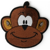 Monkey Iron On Patch