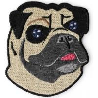 Mr Pug Iron On Cute Patch