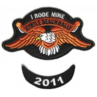 Myrtle Beach 2011 I Rode Mine 2 Piece Bike Week Patch