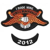 Myrtle Beach 2012 I Rode Mine 2 Piece Bike Week Patch