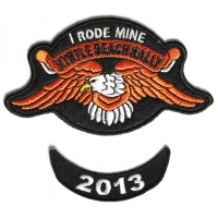 Myrtle Beach 2013 I Rode Mine 2 Piece Bike Week Patch