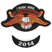 Myrtle Beach 2014 I Rode Mine 2 Piece Bike Week Patch