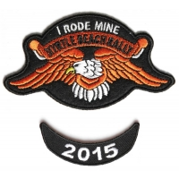 Myrtle Beach 2015 I Rode Mine 2 Piece Bike Week Patch
