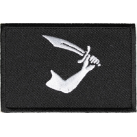 Pirate Arms And Sword Flag Patch