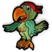 Pirate Parrot Iron On Patch
