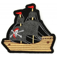 Pirate Ship Iron On Patch