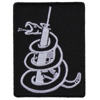 Snake Wrapped Around Machine Gun Patch | Embroidered Patches