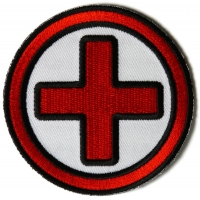 Red And Black Cross Medic Patch