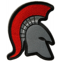 Spartan Helmet Red Mohawk Firefighter Patch