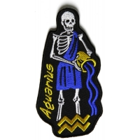 Aquarius Skull Zodiac Sign Patch