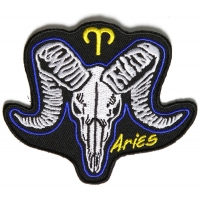 Aries Skull Zodiac Sign Patch